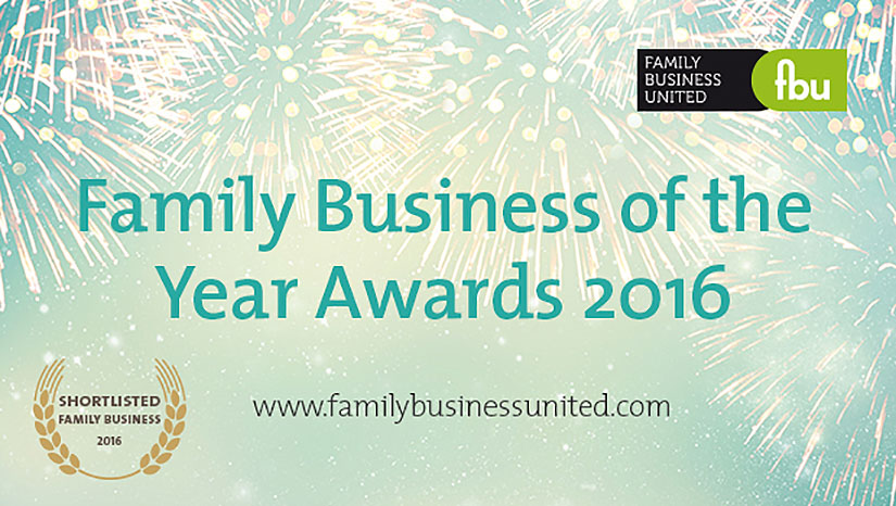 Adcock Shortlisted For Family Business Of The Year Award 2016!
